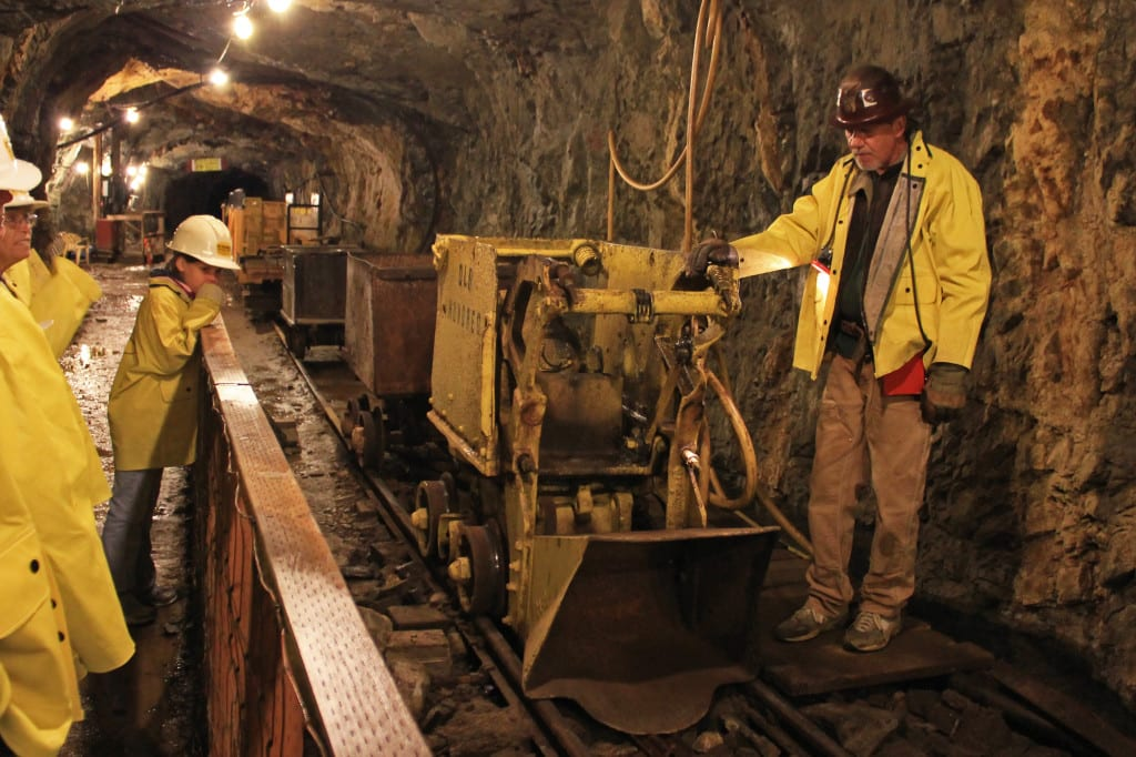 inside a gold mine