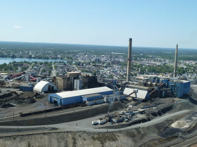 Horne Smelter in Rouyn-Noranda, site of the famous past producing Horne Mine. c/o Visible Gold Mines