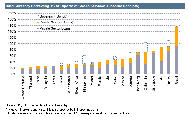 hard currency borrowing