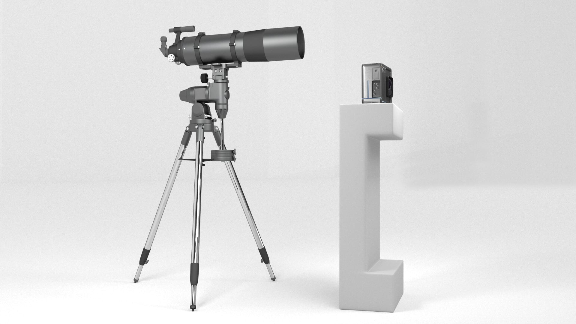 Traditional Telescope vs. Blade Optics Telescope. Design Rendering. Actual prototype and applications may vary.